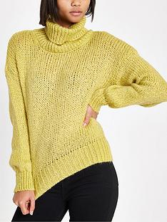e995996b94 River Island River Island Roll Neck Knit Jumper - Yellow