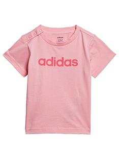 adidas-infant-linear-t-shirt-pink