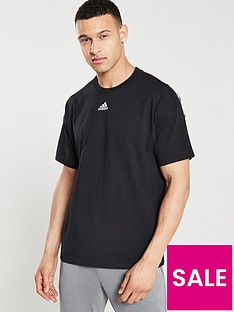 adidas-3-stripe-centre-logo-t-shirt-black