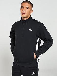 adidas-side-3-stripe-12-zip-track-top-black