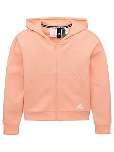 adidas-youth-3-stripe-full-zip-hoodie-pinkwhite