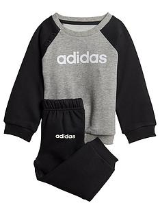 adidas-infant-linear-jog-suit-greyblack