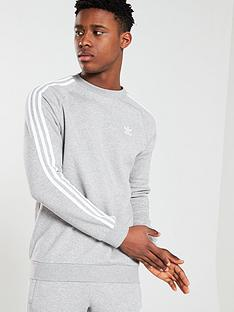 adidas-originals-3-stripe-crew-neck-sweat-medium-grey-heather