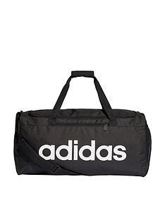 adidas-linear-logo-corenbspduffle-bag-black