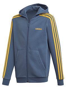 adidas-youthnbsp3-stripe-full-zip-hoodienbsp--bluegold