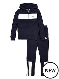 adidas-youth-cotton-tracksuit-navywhite