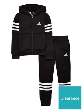 adidas-youth-premium-essentials-hooded-tracksuit-black