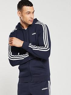 adidas-3-stripe-essential-full-zip-hoodienbsp--ink