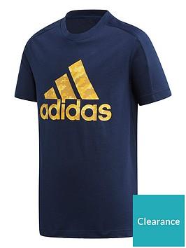 adidas-youth-id-t-shirt-navyyellow