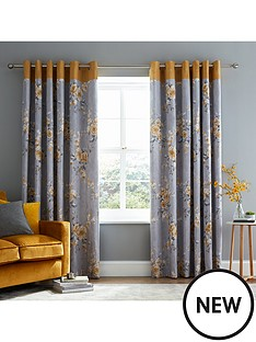 catherine-lansfield-canterbury-lined-eyelet-curtains-ochre