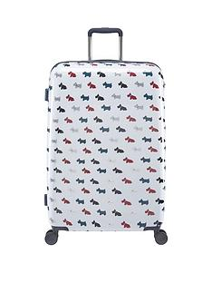 radley-radley-multi-dog-large-4-wheel-suitcase-white