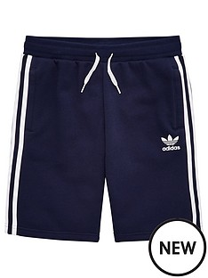 adidas-originals-youth-fleece-shorts-navywhite