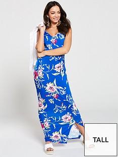 v-by-very-tall-wrap-split-jersey-maxi-dress-blue-floral