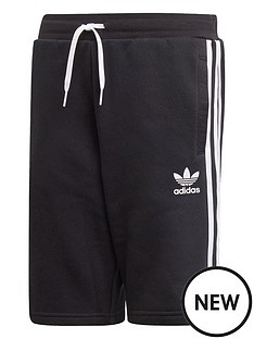 adidas-originals-youth-fleece-shorts-blackwhite