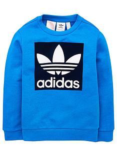 adidas-originals-youth-trefoil-crew-top-bluenavy