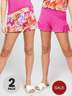 v-by-very-2-pack-ruffle-shorts-multi