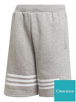 adidas-originals-youth-outline-shorts-greywhite