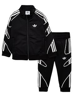 adidas-originals-infant-flamestrike-tracksuit-blackwhite