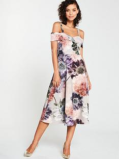 V by Very Scuba Printed Prom Dress - Print dd081046d