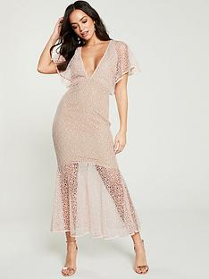 u-collection-forever-unique-bell-sleeve-midi-dress-pink