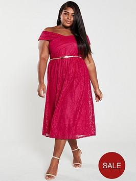 little-mistress-off-the-shoulder-lace-midi-dress-pink