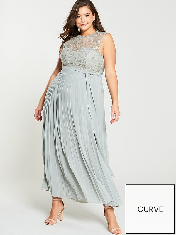 best website huge inventory nice shoes Lace Pleated Skirt Maxi Dress - Waterlily
