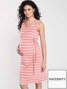 mama-licious-maternity-jersey-striped-dress-reddubarry