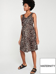 mama-licious-maternity-jersey-leopard-dressnbsp--brown
