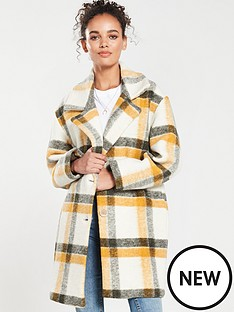mango-check-coat-yellow