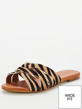 office-wide-fit-saffron-flat-sandals-tiger-print