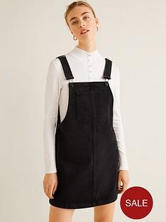 mango-denim-dungaree-pinny-dress-black