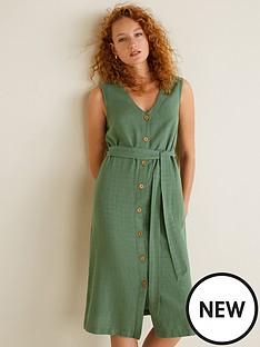 mango-cotton-linen-mix-button-through-midi-dress-khaki