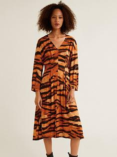 06b2e59331c4 Mango Tiger Print Dress - Orange