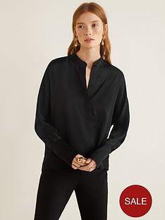 mango-satin-blouse-black