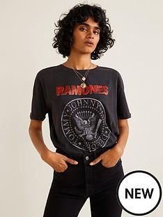 mango-ramones-jersey-t-shirt-charcoal