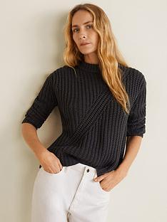 mango-crew-neck-knitted-jumper-dark-heather-grey