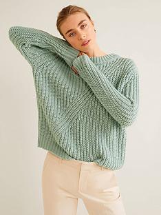 mango-crew-neck-knitted-jumper-light-green