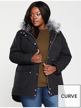 v-by-very-curve-faux-fur-parka-coat-black