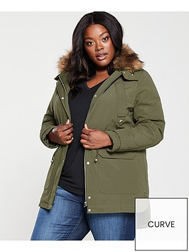 v-by-very-curve-faux-fur-parka-coat-khaki