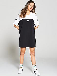 adidas-originals-tee-dress-blackwhitenbsp