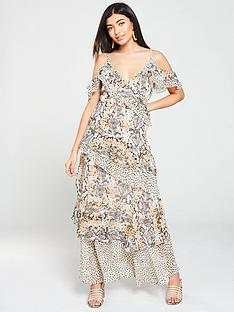 v-by-very-mixed-print-layered-maxi-dress-snake-print