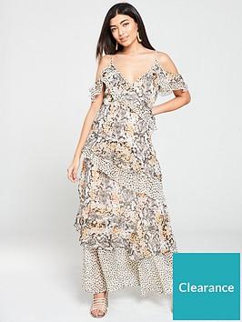 v-by-very-mixed-print-layered-maxi-dress-snake-print