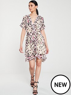 v-by-very-frilled-sleeve-tea-dress-leopard-print