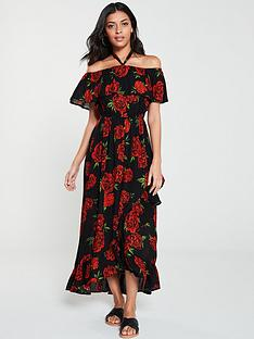 v-by-very-bardotnbsphalter-crinkle-rayon-ruffle-maxi-dress-black-floral