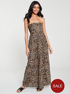 v-by-very-bandeau-shirred-back-maxi-dress-leopardnbsp
