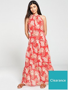 v-by-very-maxi-dress-palm-print