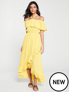 v-by-very-bardot-halter-crinkle-rayon-maxi-dress-yellow