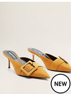 mango-buckle-detail-leather-mules-yellow