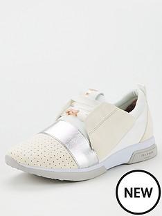 ted-baker-cepas-3-trainers-whitesilver