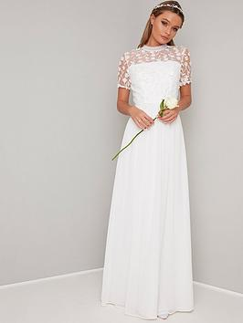 7fb1f2f5c796 Chi Chi London Bridal Alix Crochet Top Maxi Dress - White |  littlewoodsireland.ie